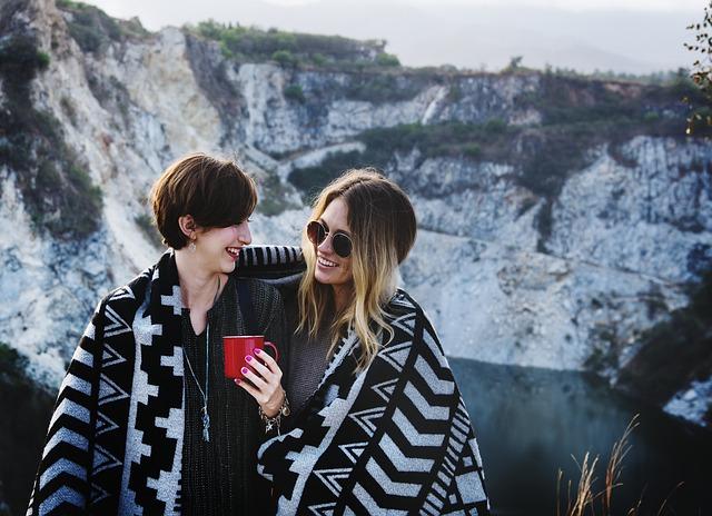 Best Friends sharing coffee